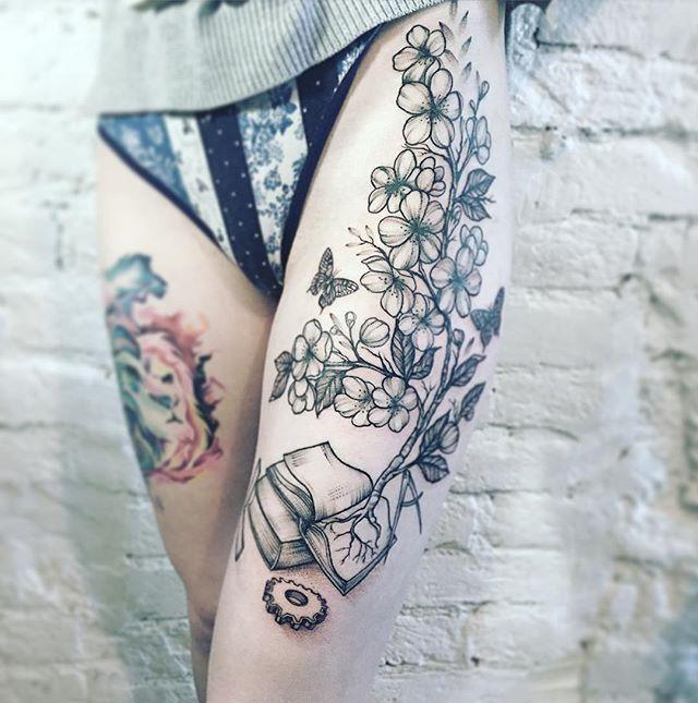 Thigh Tattoos Versatile Thigh Tattoos Inspirations For Women