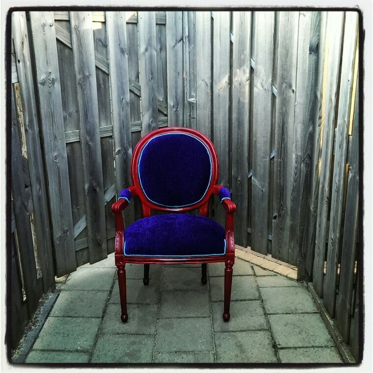 Purple red chair