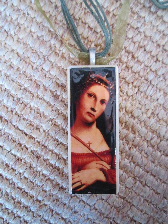 St Catherine Katharina Von Alexandrien by Lorenzo by Gypsydancers, $12.00