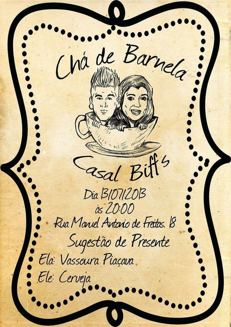 Convite Chá Bar Lais e Thiago.