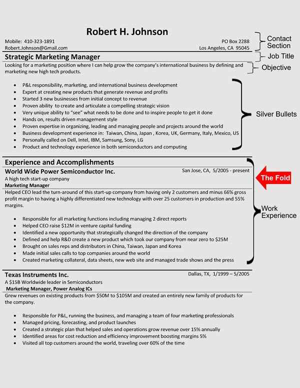 Resume Templates - Example - Page 1