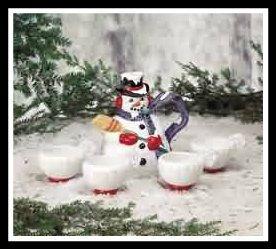 Teapots White, Snowman Ceramic Tea Pots Set 6 http://theceramicchefknives.com/ceramic-tea-pots-christmas-theme-tea-pots/ Teapots White, Snowman Ceramic Tea Pots Set 6