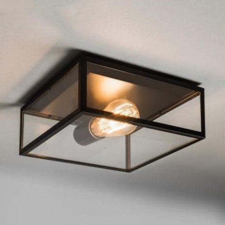 Astro Lighting - Plafonnier extérieur Bronte transparent - noir