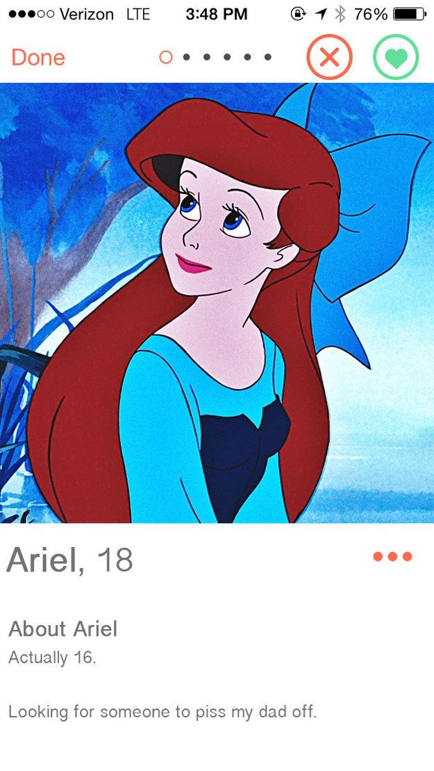 If Disney Princesses Had Dating Profiles (my personal favorite of them all)