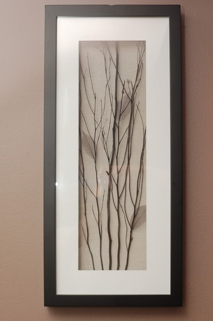 Twig art. I can use the copper leaves I have saved! Perfect!