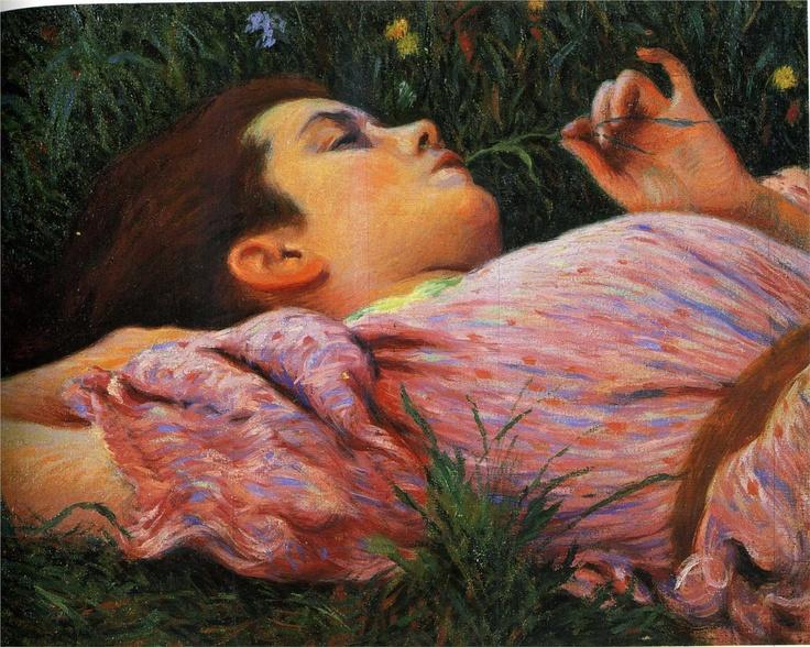 Federico Zandomeneghi - Girl with flowers, 1884-1894