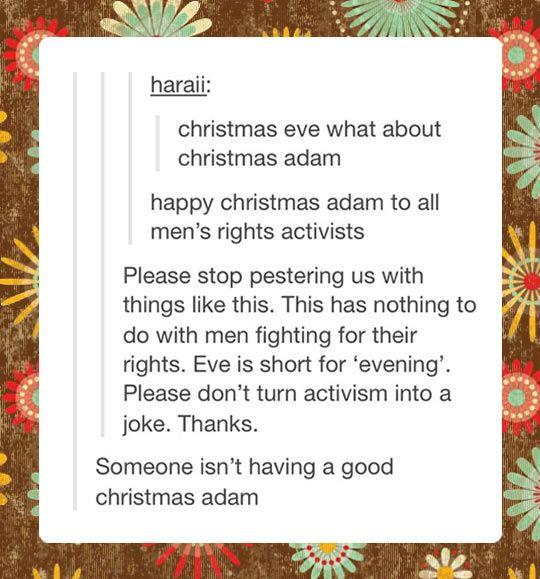 Christmas Adam…