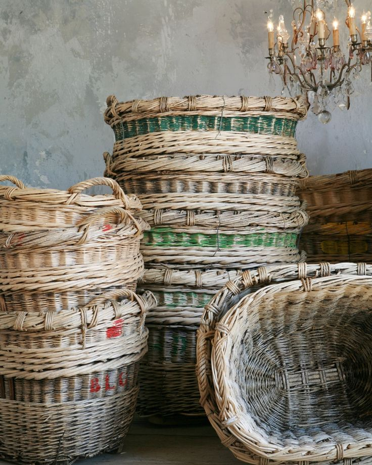 antique grape pickers baskets from Champagne...