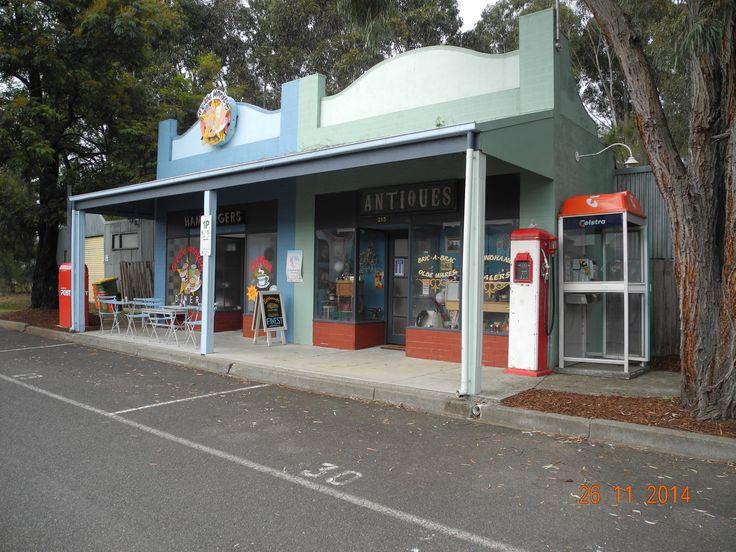 Hamburger and Antique Shops (Close up)