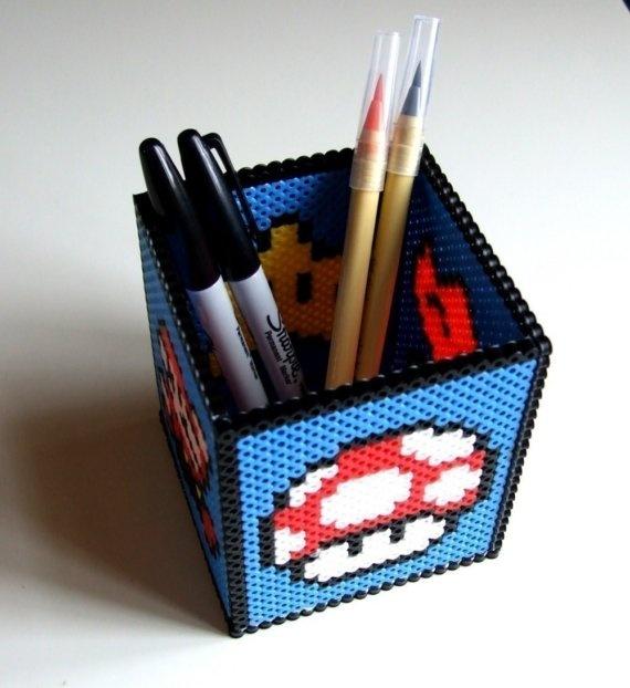 perler bead pencil holder