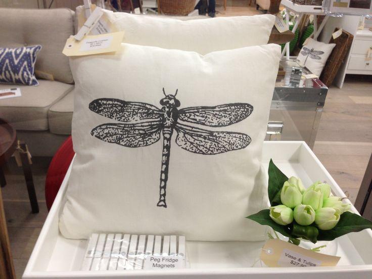 Dragonfly cushions $19.95