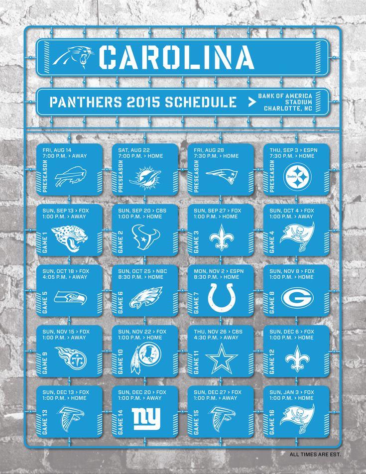 25+ best Carolina Panthers Football Schedule ideas on ...