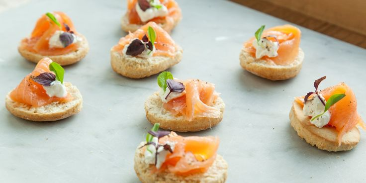 Bruno Loubet's canapé is perfect for Christmas, with smoked salmon resting on a base of fluffy quinoa biscuits