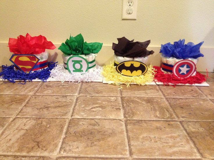 Super Hero Diaper Cakes Baby Baby Shower In 2019 Diy