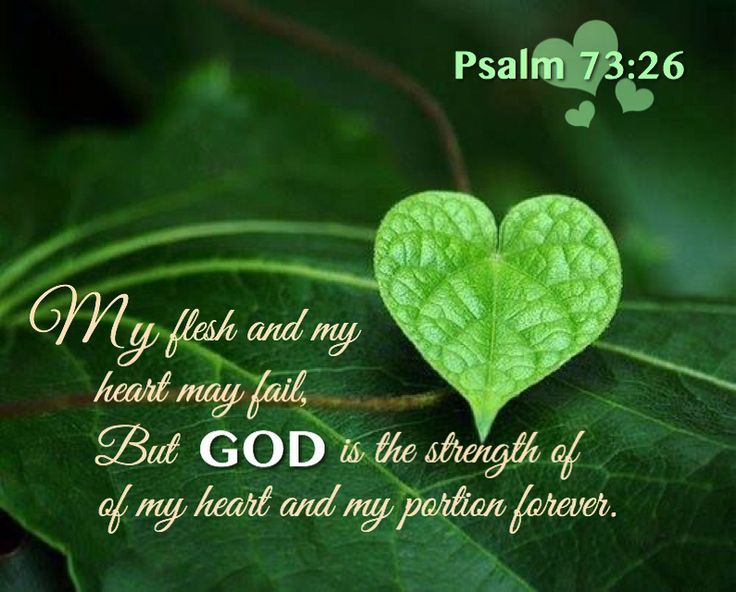 Psalm 73:26 Draw strength from the Lord.
