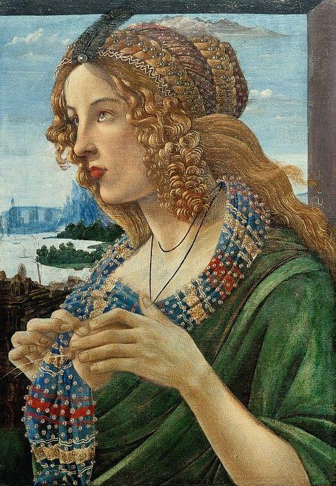 Аллегорический портрет женщины (Симонетта Веспуччи?) (мастерская). Сандро Боттичелли