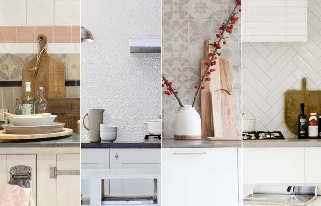 Met tegels creëer je een opvallende keukenachterwand