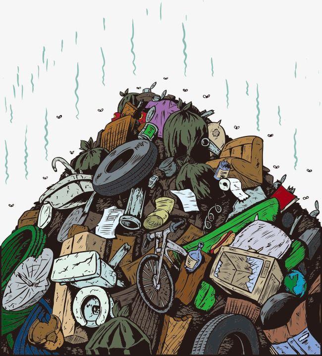 Vector Cartoon Illustration Of Garbage Cartoon Vector Garbage Illustration Rubbish Png And Vector With Transparent Background For Free Download Trash Art Cartoon Illustration Waste Art