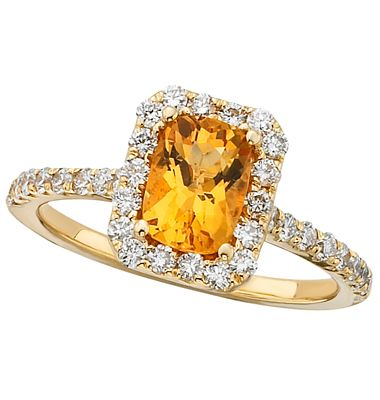 Say hello to Citrine...November birth stone.   But you can have me set with any color center.