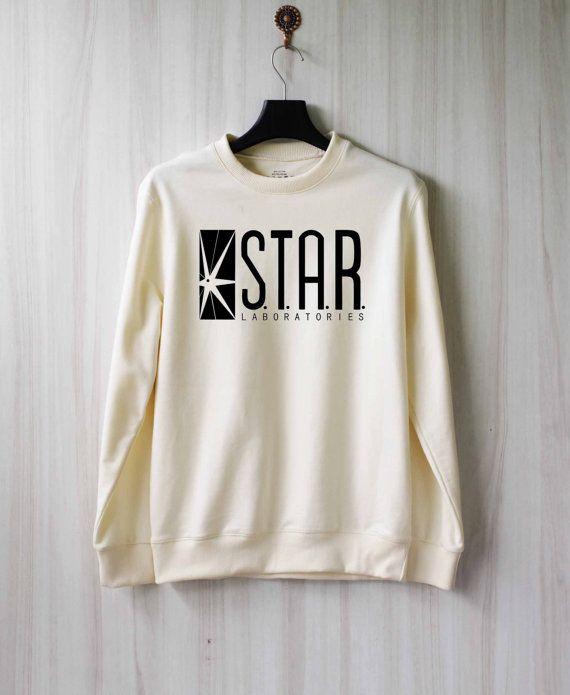 Also amazing sweatshirt/The Flash gear :) Star Laboratories Shirt Star Labs Sweatshirt Sweater by SaBuy
