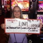 Congratulations to Ilona from Texas––on August 16 she won $1,446 playing a Awesome Reels: Lady of Athens slot game!
