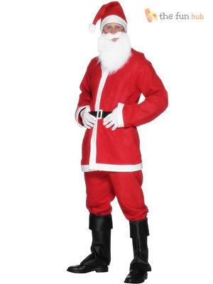 Mens santa #claus bargain costume #father christmas suit xmas fancy #dress outfit,  View more on the LINK: 	http://www.zeppy.io/product/gb/2/181923317293/