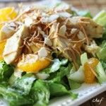 Oriental Chicken Salad and Dressing - Abby luvs this and can make it herself, a double-treat!