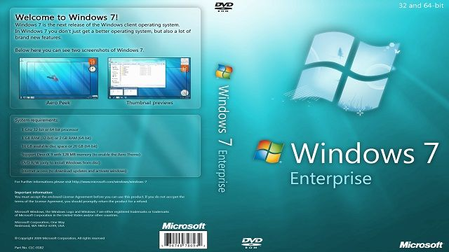 Windows 7 Enterprise 32 64 Bit Free Download Iso Microsoft Windows Microsoft Enterprise