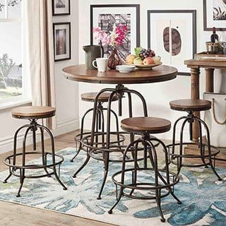 Shop for Berwick Industrial Style Round Counter-height Pub Adjustable Dining Set by iNSPIRE Q Classic. Get free delivery at Overstock.com - Your Online Furniture Shop! Get 5% in rewards with Club O! - 18012876