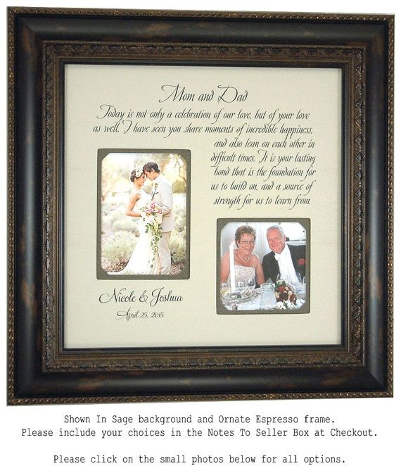 Wedding Gift For Parents Celebration Of By PhotoFrameOriginals