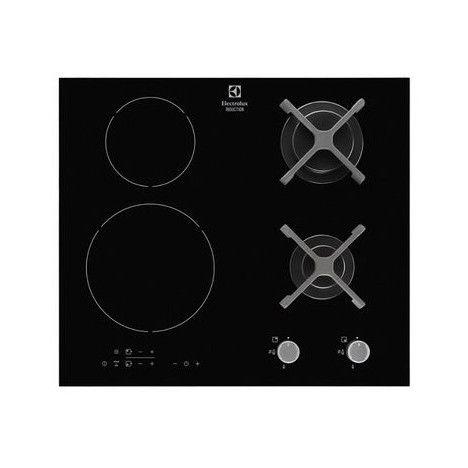 Table de cuisson Mixte EGD6576NOK 60 cm 2 foyers gaz 2 foyers induction
