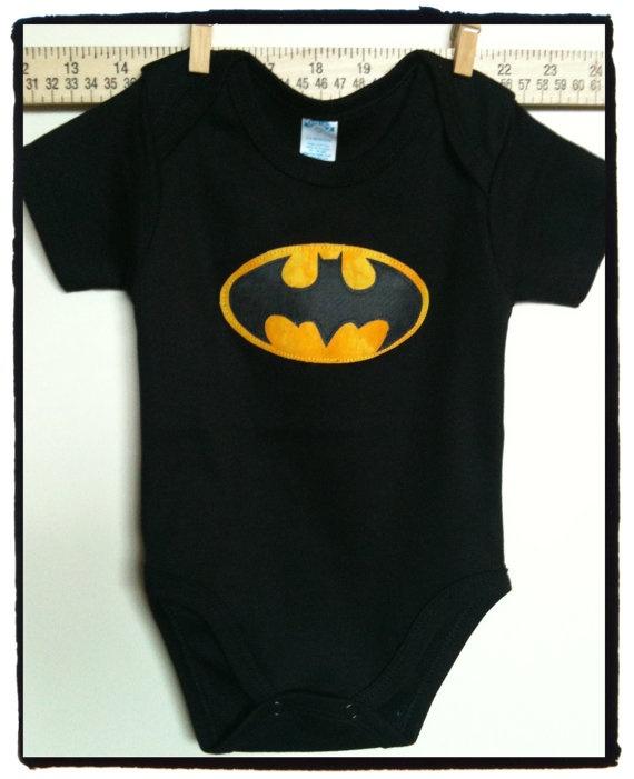 Super hero Batman onesie or by ChristinaKayeDesigns, $17.00