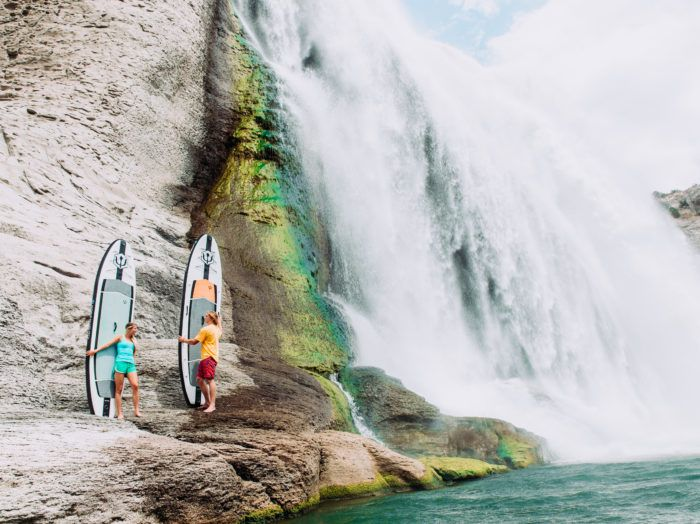 Stand Up Paddle Boarding, Shoshone Falls, Twin Falls. Photo Credit: Idaho Tourism