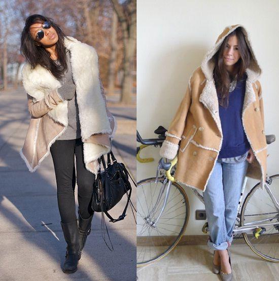 street style abrigo piel vuelta