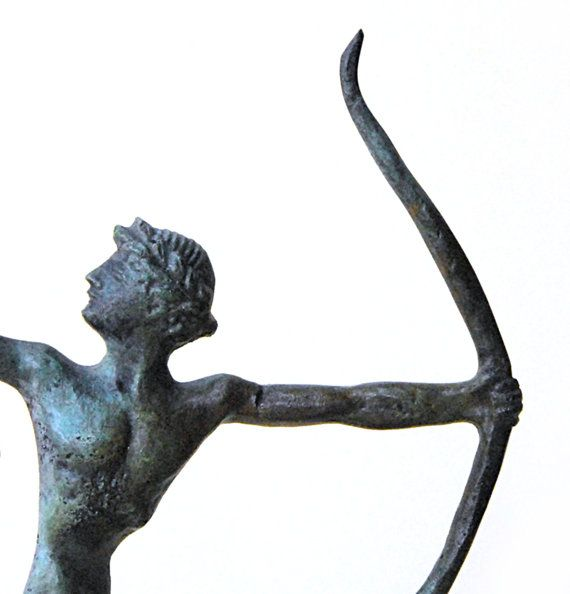 Archer Bronze Statue Ancient Greek Athlete Ancient by GreekMythos