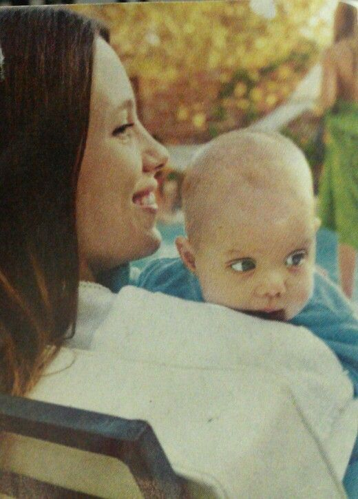 Marcheline Bertrand and her baby Angelina Jolie | Angelina ...