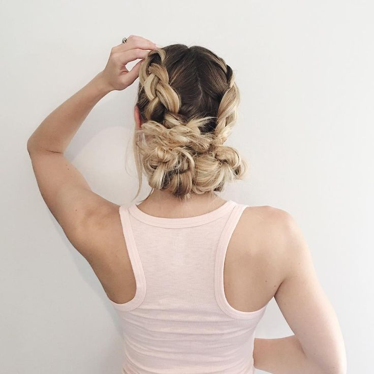 Back to the double Dutch braids…today it's braids and buns ️ • • • #ictblogge…, #Hairstyles2019,'#fashionhair #hairstylist #longhair