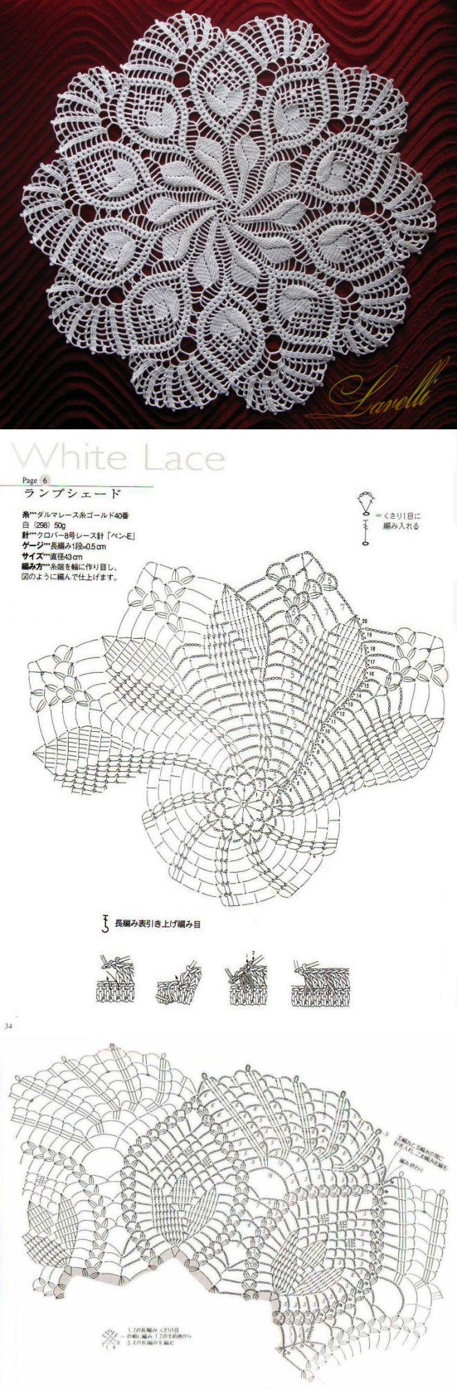Napkin crochet scheme...<3 Deniz <3