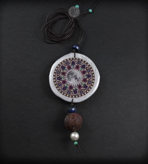 Choc Moon Mandala necklace  – Olga Zielinska – Folt Bolt Shop