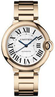 Cartier ballon bleu de Cartier-Kollektion Damen Uhr mit Saphirglas, Rotgold Armband und einem silberen Ziffernblatt. Die Luxusuhr ist neu und ungetragen.<br