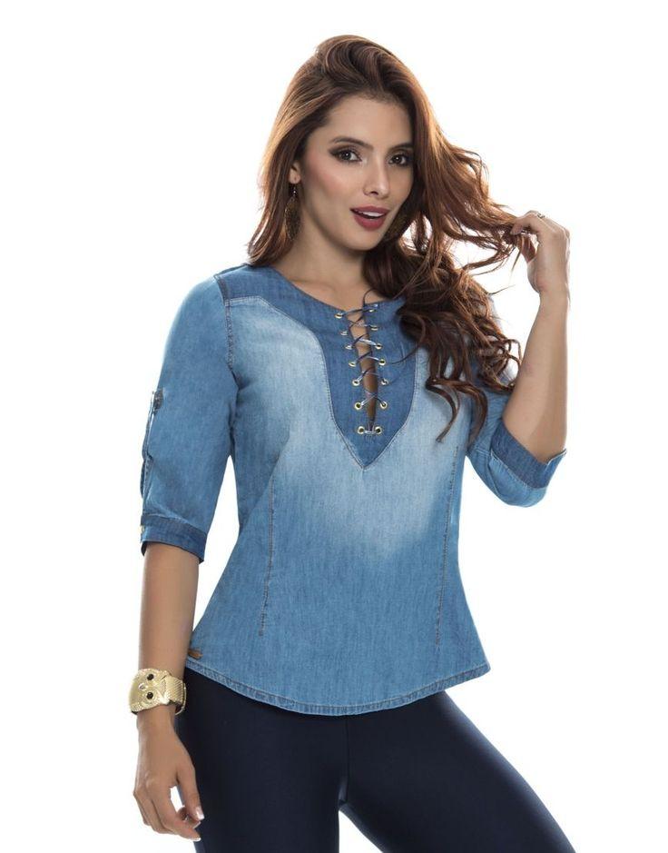 Blusa BL 4055 Tenemos novedades en blusas dama.  Todos los modelos disponibles en: https://jeanspitbull.com/catalogo-de-blusas-y-tops  #vestidos #dress #dama #figura #modalatina #modamujer #modadama #novedades #newcollecion  #ventasonline #modamedellin #fashion #cool