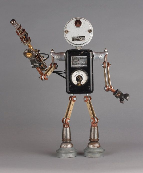 Dishfunctional Designs: Robots Made From Found Objects