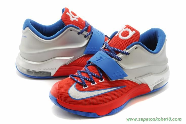 "venda de tenis online Masculino KDVII-014 Nike KD VII ""texas"" Captain America"