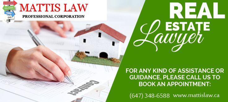 Whether you are buying or selling a home, in a real estate law dispute, or contemplating a real estate transaction, it is important to know your rights and have them explained to you by a Real Estate Lawyer in North York.Mattislaw.ca will helps you.  For more Information You can contact us:- (647) 348-6588  150 Consumers Road Suite 307 North York, ON M2J 1P9
