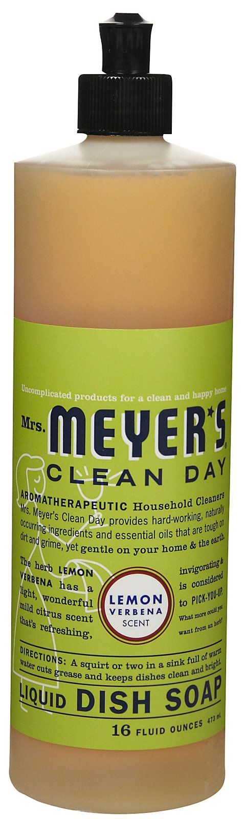 Mrs. Meyer's Clean Day Liquid Dish Soap, Lemon Verbena - it gives a mundane task a whole new meaning!