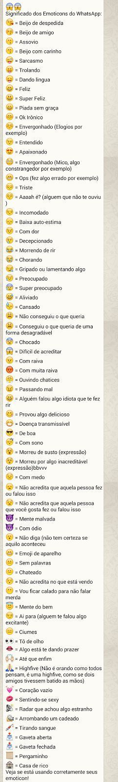 Significados Emoticons Whatsapp!! | Jabuti Rei: