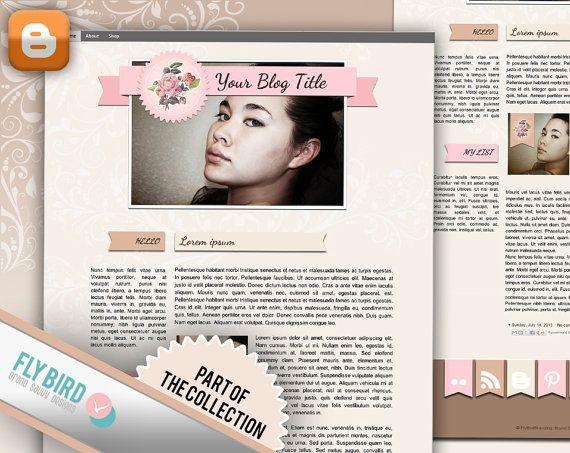 Blogger Template Sunny by FlyBirdBranding on Etsy, €19.00