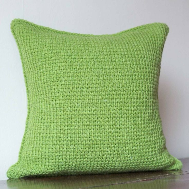 Green Crochet Cushion Cover This green cushion cover will add a bright pop  of colour to