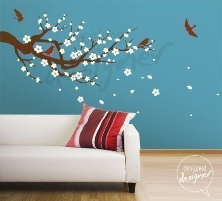 Wall decal wall sticker tree decal season of cherry blossom branch dd1013 67 00