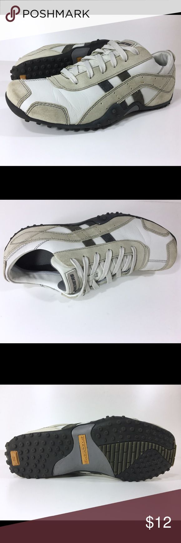 Skechers Men's Urban Track Resource Shoe Off White Skechers Men's Urban Track Resource Leather Shoes   Our Price: $12 Regular Price: $59 - save $47 (79%) _________________________________________  Size: 12 (D, M)  Color: Off White _________________________________________  Condition:  Pre-owned with some wear and no defects. See photos. _________________________________________  Features & details  • Leather  • Import  • Rubber outer sole  • Lace up   Product information  Men's  Skechers…